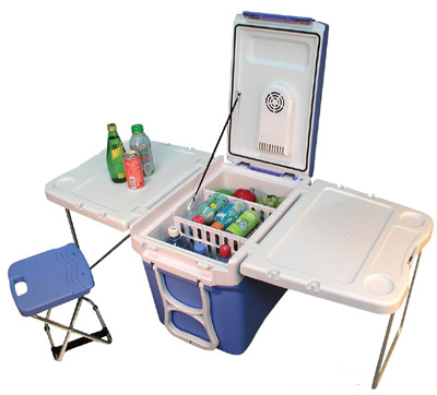 Party cart rolling cooler on wheels that converts to picnic table four in one multi function cooler and warmer watchthetrailerfo